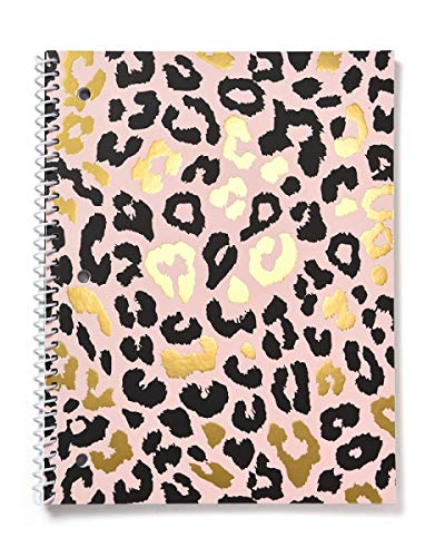 Gartner Studios Cheetah Spiral Notebook, Black and Blush, 8 by 10.5 Inches, 80 Pages, 1 Count, 52517