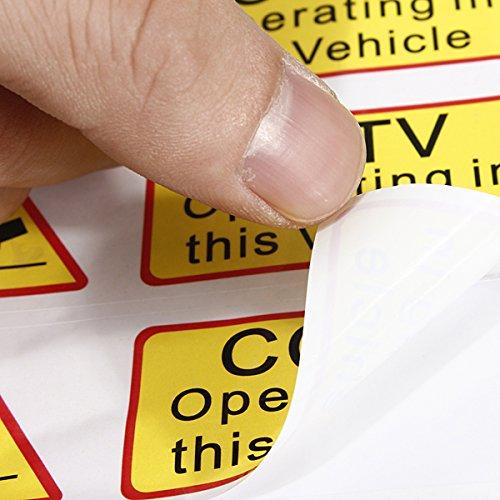 YONGYAO 6Pcs Voiture Taxi Autocollant Signes Décalque CCTV Opérant dans Ce Véhicule