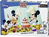 Nathan 86465 Mickey - Puzzle con diseño de pastelería (45 Piezas)