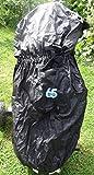 65UNITED Golf Bag Regenschutz Raincover Nylon Schwarz