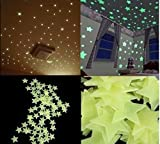 DIY, self adhesive, with Glow in the Dark Stars for Starry Sky with 100 Stars Wall Tattoo Children's Room Wall Stickers, Self-Adhesive stars for big and Small-Make your room to Himmelstraum of