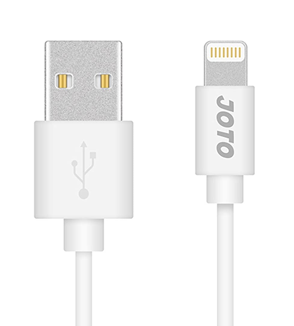 Lightning Cable, [Apple MFi Certified] JOTO Lightning to USB Cable (3.3ft 1m Long), Data Sync Charge Cable for iPhone 6S 6 Plus 6, iPad Pro, Air 2, Mini 4, iPod Touch 5 6th gen, Nano 7th gen (White)