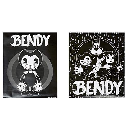 Bendy and the Ink Machine Poster – Offizielles Bendy Poster Set – Schwarz und Weiß, biegsame Poster One Size schwarz