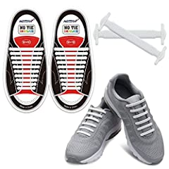 Turn Your Shoes into A Slip-on – No tie shoe laces made from premium and stretchable silicone, quite time-saving, conform to your foot to a flexible fit, provide suitable compression and support, reduce pressure points to let you feel better throught...