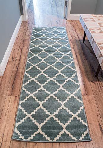 light blue carpet runner - 7