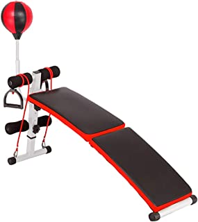 Multi-Workout Bench, Adjustable/Foldable Utility Bench Weightlifting Strength Training Sit Up Bench Folding Supine Board, Training Bench for Full Body Training Exercise Bench