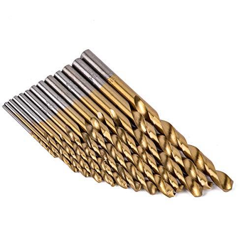 WUXUN-Drill Bit 13pcs High Speed Steel HSS Drill Bits Set Titanium Coated Woodworking Tools 1.5-6.5mm