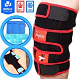 TOUGHITO Hot & Cold Knee Ice Pack Wrap – Compression Knee Wraps for Pain,...