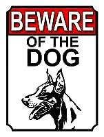 犬に注意ティンサインの装飾ヴィンテージ壁金属プラークレトロな鉄の絵カフェバー映画ギフト結婚式誕生日警告