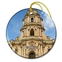 サンジョルジョモディカシチリアのイタリア教会クリスマスオーナメントセラミックシート旅行お土産ギフト