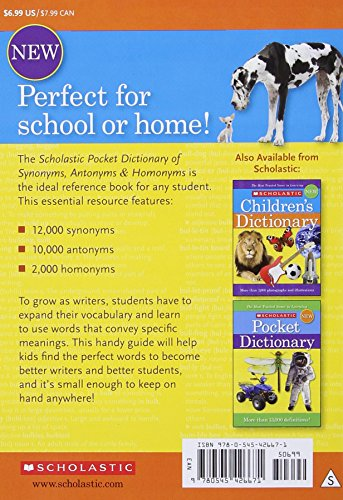 Scholastic Pocket Dictionary of Synonymsntonyms, Homonyms