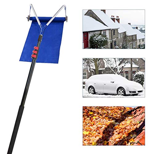 Great Features Of LXHSY Roof Snow Rake,Roof Rake for Snow Removal,30 Ft Adjustable Telescoping Handl...