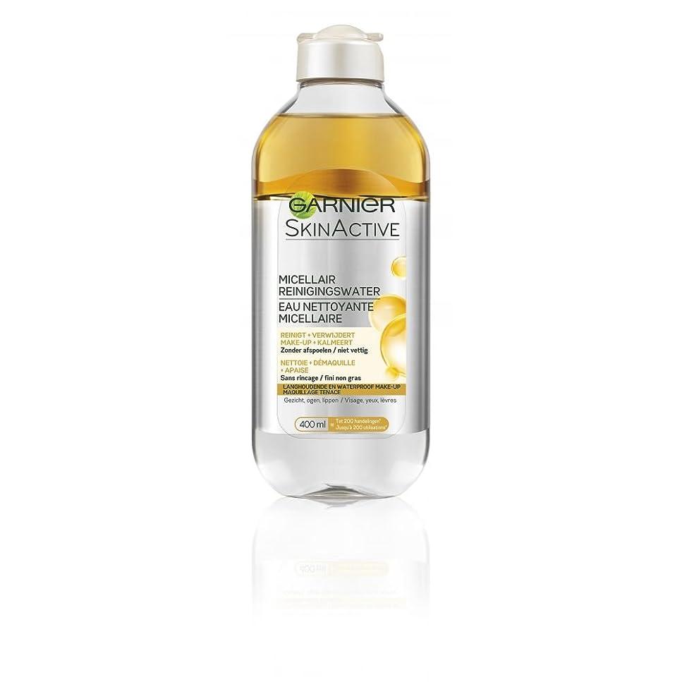 キュービックボクシングパブガルニエ SkinActive Micellar Water - Removes Waterproof Make-Up 400ml/13.3oz並行輸入品