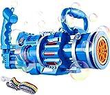 WBOSHI Máquina de Burbujas para niños, Arma Creativa de Fabricante de Burbujas de Burbujas con música Ligera Regalo automático de la máquina de Burbuja para niños,Blue