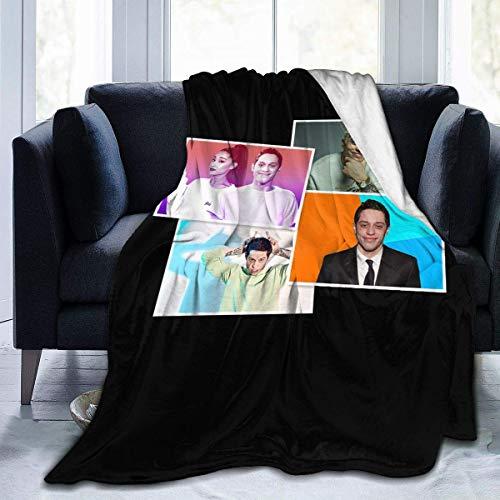Pete Davidson, coperta in pile ultra morbida e calda, stampa digitale in flanella, per bambini/adulti, regalo di compleanno di Natale, 152,4 x 127 cm, 150 x 50 cm
