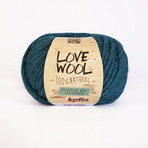 Love Wool, dickes Dochtgarn von Katia in petrol (118)