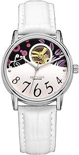 North King - North King Cuarzo Relojes Fecha Pantalla Mujer Reloj Reloj automático Cuero Moda Relojes agradables Banda para Regalo de cumpleaños de Adultos