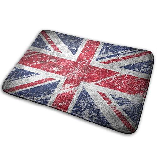 GOSMAO Felpudo de Entrada Alfombra Exterior para Puerta Impermeable Lavable Antideslizante Bandera británica Vintage 40X60cm