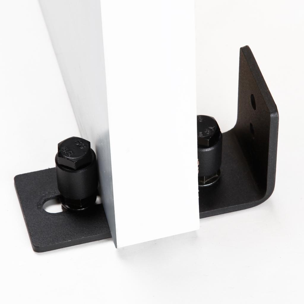 Soporte de pared suelo guía estancia rodillo para puerta corrediza de granero Hardware montado en la