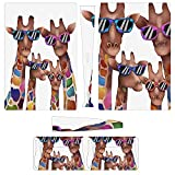 PS5 Skins Giraffe Family Wear Sunglasses PS5 Covers Pattern Decals Skin Sticker for Playstation 5 Digital with 1 Console Skin 2 Controller Skins Dustproof Covers Digital Edition for Kids Girl