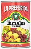 La Preferida Tamales Beef & Pork, 15-Ounce (Pack - 3)
