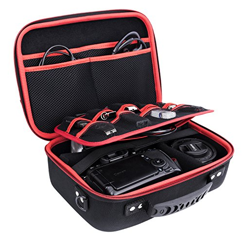 Ropch Aufbewahrungstasche Elektronik Zubehör Tasche Speicher Tragen Beutel-Kasten Reisetasche Mehrfachfunktion Organizer für Camera Ladegerät Kabel USB-Sticks
