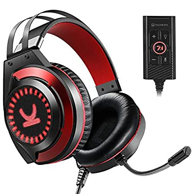 VANKYO CM7000 Gaming Headset with Authentic 7.1 Surround Sound Stereo, 3.5mm PS4 Headset, Xbox One Headset, USB headset, Gaming Headphones with Mic, Soft Earmuffs for PC, PS4, PS5, Xbox One, Switch from VANKYO