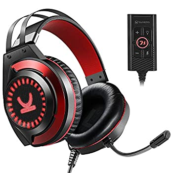 VANKYO Gaming Headset CM7000 with Authentic 7.1 Surround Sound Stereo PS4 Headset Gaming Headphones with Noise Canceling Mic & Memory Foam Ear Pads for PC PS4 Xbox One PS5 Nintendo Switch