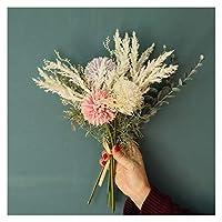 アートフラワー 人工&ドライフラワーの人工的な偽の花の陸上のウェディングブーケパーティー家の装飾ホーム 工場 (Color : A)
