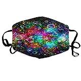 Foulard Bolle colorate Bellissimo arcobaleno Astratto Anti polvere Polsini Cuffie riutilizzabili lavabili per la protezione della faccia Protezione della bocca