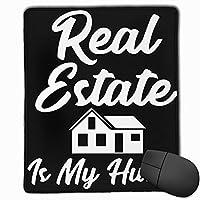 マウスパッド ゲーミング オフィス最適 Real Estate Is My Hustle Funny Realtor 高級感 おしゃれ 防水 耐久性が良い 滑り止めゴム底 ゲーミングなど適用 マウスの精密度を上がる( 25*30*0.3cm )