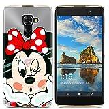 Easbuy Handy Hülle Soft Silikon Hülle Etui Tasche für Alcatel One Touch Idol 4 Pro 6077X / Idol 4S / Windows Smartphone Smartphone Cover Handytasche Handyhülle Schutzhülle