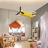 JSJJARF Suministros Fiestas Set Sala de Dormitorio Principal Niños Niños bebés Avión Que cuelga del Techo del LED lámpara Colgante for la alimenta la lámpara de la decoración del Accesorio Ligero