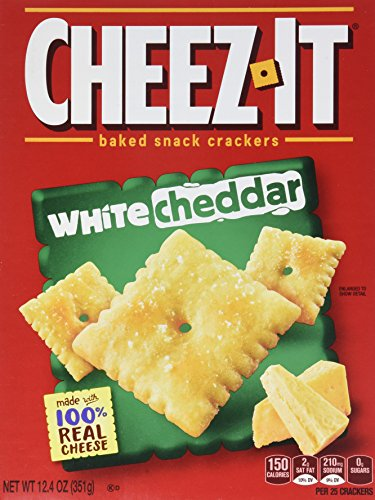 Sunshine, Cheez-It Baked Snack Crackers, White Cheddar, 12.4oz Box (Pack of 4)