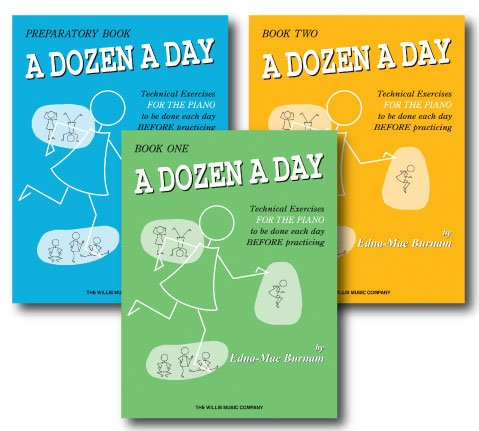 A Dozen a Day Technical Excercises for the Piano - 3 Book Set - Includes A Dozen a Day Preparatory Book, A Dozen a Day Book One and A Dozen a Day Book Two