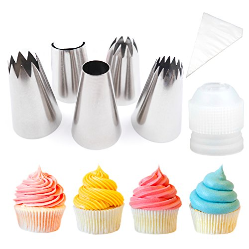 Pridebit Cupcake Decorating Tips Extra Large Piping Icing Tips