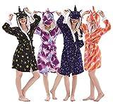 Qaoping Ropa de Dormir Pijama Albornoz Infantil Adulto Albornoz Albornoz Pijamas Chicos y niñas Pijamas Pijamas Infantiles Disfraz