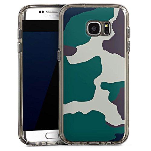 DeinDesign Samsung Galaxy S7 Edge Bumper Hülle Bumper Case Schutzhülle Camouflage Bundeswehr Tarn Muster