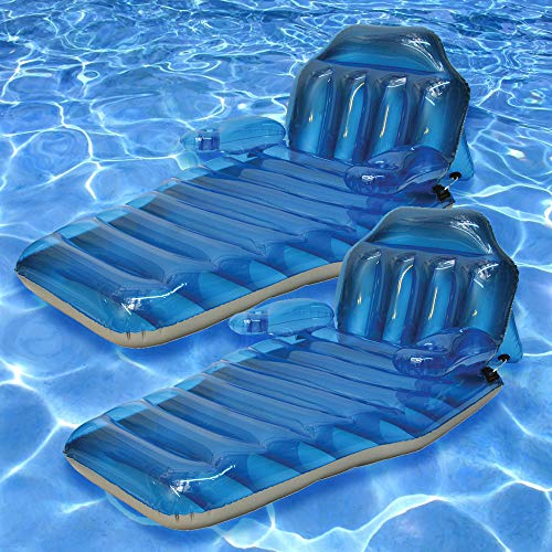 Poolmaster Adjustable Chaise Floating Lounge 2 Pack
