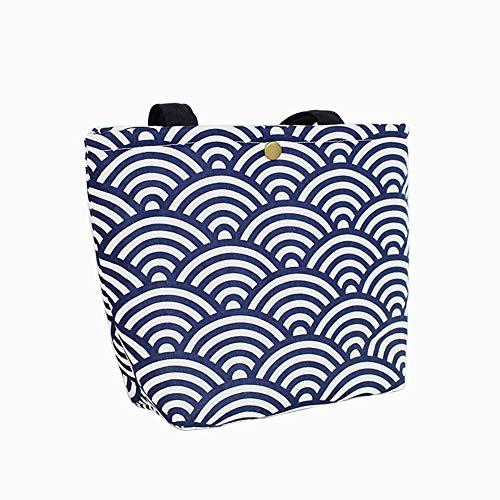 qearly Sea Wave style portable sac repas pique-nique sac Bento de B
