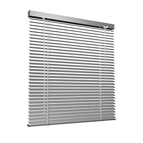 Victoria M - Persiana de aluminio, 40 x 130 cm, Plata