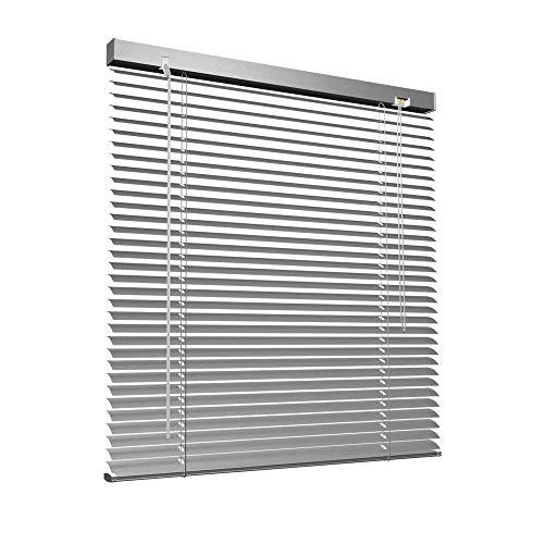 Victoria M. Aluminium Jalousie, 105 x 220 cm, Silber, Jalousie ohne Bohren, inkl. Klemmclips