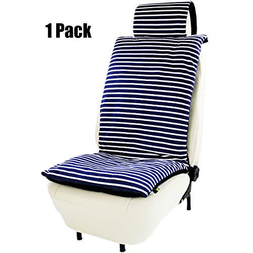 Preisvergleich Produktbild ZJWZ Kfz-Vordersitz Polyester universelle Größe geeignet für zu Hause und Auto,  Bürostuhl,  Reisen etc. (in schwarz), ST4876navyblue