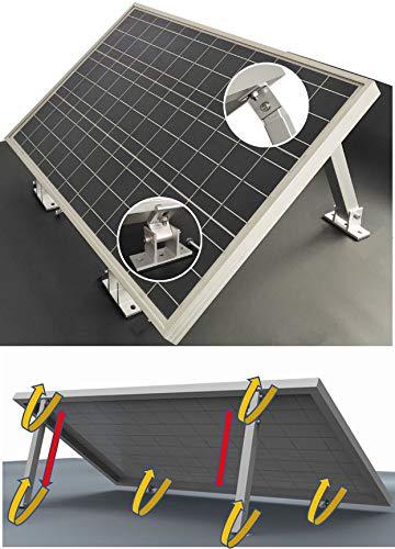 Set 2x Vario Aufständerung Solarmontage Stufenlos 20° - 40° variable Modulgröße