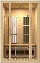 Maxxus Saunas MX-J206-01 Seattle Carbon Far Infrared Sauna for 2 Persons, Hemlock Wood