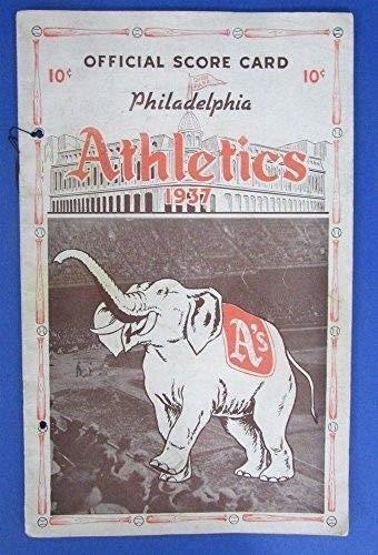 Vintage 1937 Philadelphia Athletics Official Scorecard Program 123412
