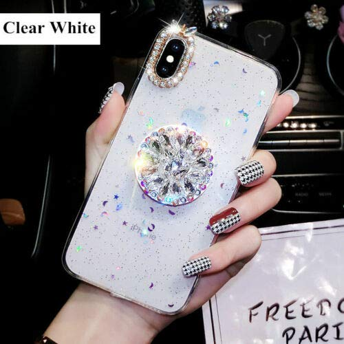 Glitter Diamond Case With Pop Up Holder For iPhone 7 8 X XS XR Cases Socket