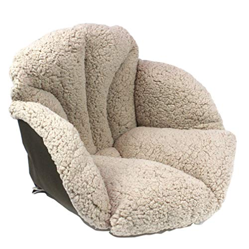 DKZ Cojines de silla de felpa para mantener el calor del dormitorio, cojines de terciopelo de cordero, cojines de cintura más gruesos, asientos para niños para mantener el calor