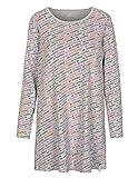 BASEFIELD Homewear Nachthemd - Silver Melange AOP