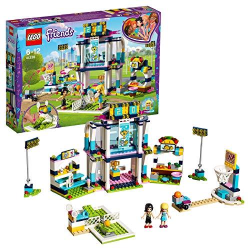 LEGO Friends - Polideportivo de Stephanie, Juguete con Mini Muñecas para Construir y Crear Aventuras para Niñas y Niños de 6 a 12 Años, Incluye Accesorios de Raquetas de Tenis (41338)